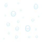 De dalingen van het water of van de regen op wit royalty-vrije illustratie