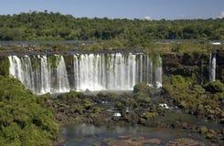 De Dalingen van Iguazu - de Grens van Argentinië/van Brazilië Stock Foto