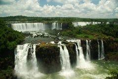 De Dalingen van Iguazu die van Brazilië worden gezien Stock Afbeeldingen