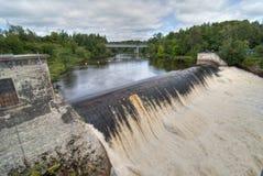 De Dalingen van Montmorency, Quebec, Canada Stock Foto's