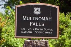 De dalingen van Multnomah Stock Foto