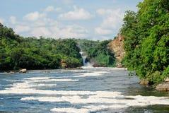 De Dalingen van Murchison op Victoria Nijl, Oeganda stock afbeeldingen