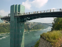 De dalingen van Niagara, gezicht dat brug zien Stock Afbeelding