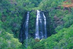 De Dalingen van Opaeka'a, Kauai stock afbeelding