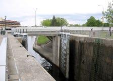 De Dalingen van Smiths van het Rideaukanaal sluiten 2008 stock afbeeldingen