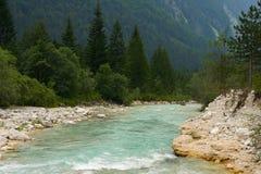 De dalingen van Soca van de rivier royalty-vrije stock afbeelding