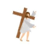 de dalingen van tekeningsjesus-christus derde stock illustratie