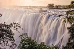 De Dalingen van Victoria, Zambia Stock Fotografie