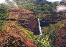 De Dalingen van Waipo'o, Waimea Canion SP Stock Foto