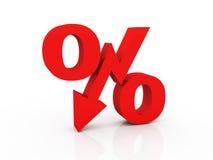 De dalingsconcept van de economie Stock Afbeelding