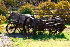 De dalingskleuren verschijnen op het Landbouwbedrijf royalty-vrije stock fotografie