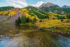 De Dalingslandschap van Colorado stock foto's