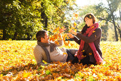 De dalingspaar van de herfst Royalty-vrije Stock Foto