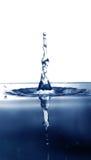 De dalingsplons van het water stock afbeeldingen