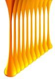 De dalingsvlekken van de regenboog glanzende gouden die verf op wit worden geïsoleerd Vector 3d illustrator Royalty-vrije Stock Foto's