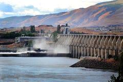 De Dalles-Dam Hydromacht royalty-vrije stock afbeeldingen