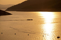 De dam Bhumibol in Thailand. Royalty-vrije Stock Fotografie