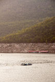 De dam Bhumibol in Thailand. Stock Foto