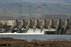 De dam Dalles Royalty-vrije Stock Foto's