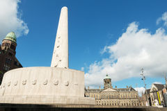 De Dam (Grand Square) Royal Palace and National Monument in Amst Stock Image