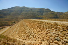 De Dam van Chabrouh, Libanon. stock afbeeldingen