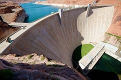De Dam van de Canion van de nauwe vallei Stock Foto