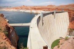 De Dam van de Canion van de nauwe vallei Stock Fotografie