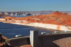 De Dam van de Canion van de nauwe vallei in Californië Royalty-vrije Stock Foto's