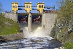 De dam van de opslag Royalty-vrije Stock Foto's