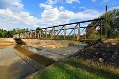 De dam van de rivier Royalty-vrije Stock Foto