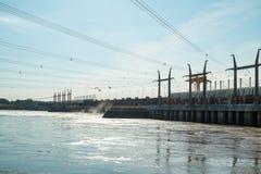 De dam van de Saltoelektrische centrale Stock Afbeeldingen