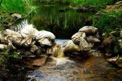 De dam van de zandzak Royalty-vrije Stock Fotografie