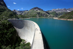 De dam van Emosson Stock Fotografie