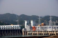 De dam van Gezhouba Stock Foto's