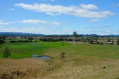 De dam van het landbouwbedrijf Stock Foto's