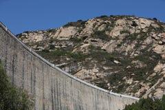 De dam van het reservoir Stock Afbeelding