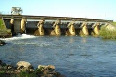 De dam van het reservoir Stock Fotografie