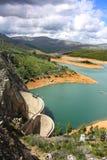 De dam van het water Stock Foto's