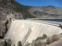 De Dam van Hetchy van Hetch in Nationaal Park Yosemite Royalty-vrije Stock Foto
