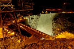 De Dam van Hoover bij nacht Royalty-vrije Stock Foto's