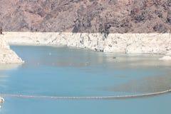 De Dam van Hoover en de Rivier van Colorado Royalty-vrije Stock Afbeelding