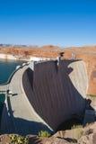 De Dam van Hoover in zonnige dag op de grens van Arizona en Nevada Royalty-vrije Stock Afbeeldingen