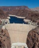 De Dam van Hoover op de rivier en Meer Meade van Colorado Royalty-vrije Stock Fotografie