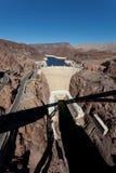 De Dam van Hoover op de rivier en Meer Meade van Colorado Stock Foto's