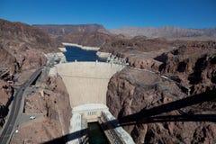 De Dam van Hoover op de Rivier van Colorado & de Weide van het Meer Royalty-vrije Stock Foto's