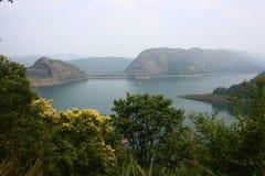 De Dam van Idukki bij Dam van de Boog van Kerala - van Azië de Grootste stock foto