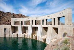 De Dam van Parker op de grens van Californië en Arizona Stock Foto