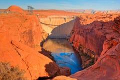 De Dam van Powell van het meer Stock Foto's