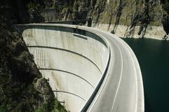 De dam van Vidraru royalty-vrije stock afbeelding