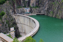 De dam van Vidraru Royalty-vrije Stock Foto's